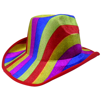 Chapeu Cowboy Kit Com 3 Colorido Festa Carnaval Fantasia Baile - Ideal  Importados 074a72037b4