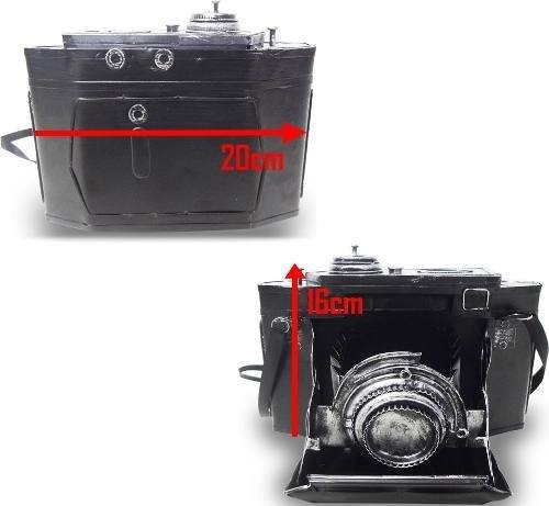 Cofre Camera Fotografica Vintage Retro De Ferro Fundido 16cm