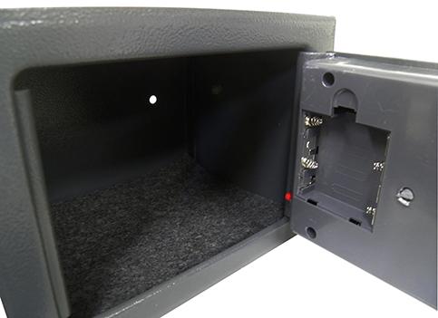 Cofre Eletronico Segredo Com 2 Chaves E Teclado Numerico Preto (888105)