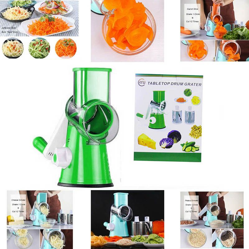 Cortador Fatiador Legumes 3 Laminas Ralador Verduras Queijo Alimentos Cozinha (888671/BSL1901)