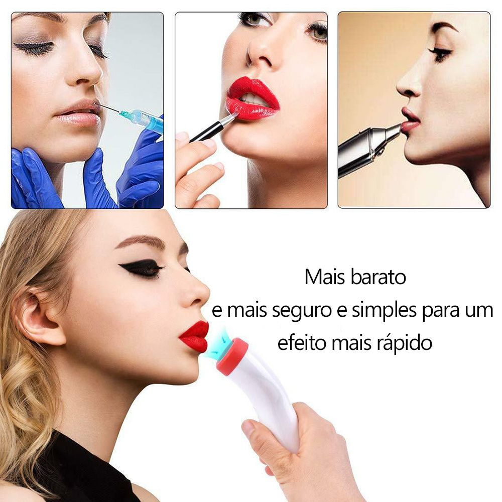 Dilatador aumenta volume labios volumosos eletrico efeito plump boca recarregavel inchar sexy