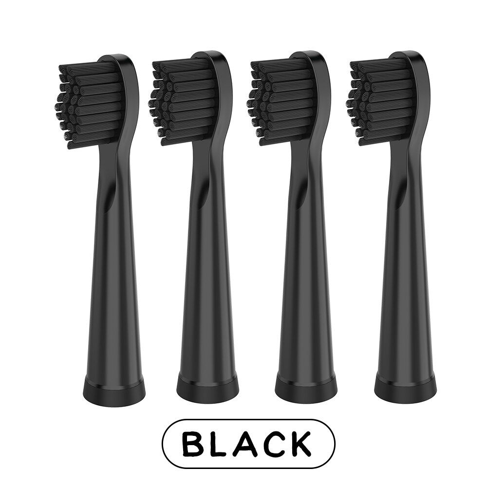 Escova de Dente USB Refil Recarregavel Eletrica Dental Preto Higiene Bucal