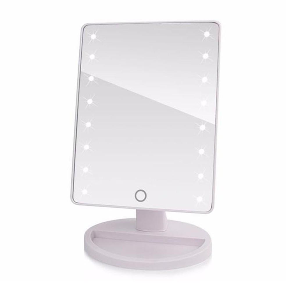 9cc307989bd Espelho Led de Mesa Camarim Portatil Articulado Maquiagem Branco (888415) -  Ideal Importados