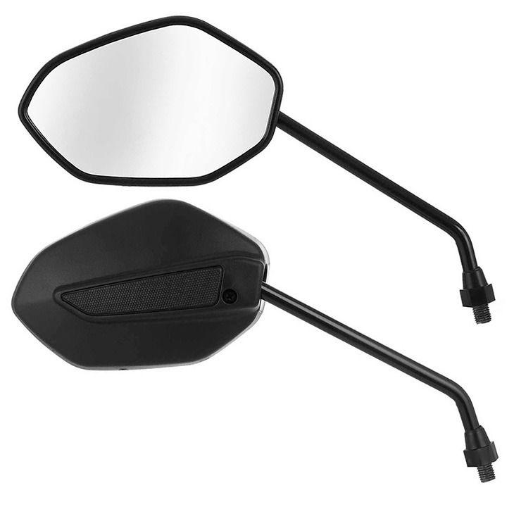 Espelho Mini Par Retrovisor Nova Titan Fan 2014 Honda Serve Em Todas (2669)