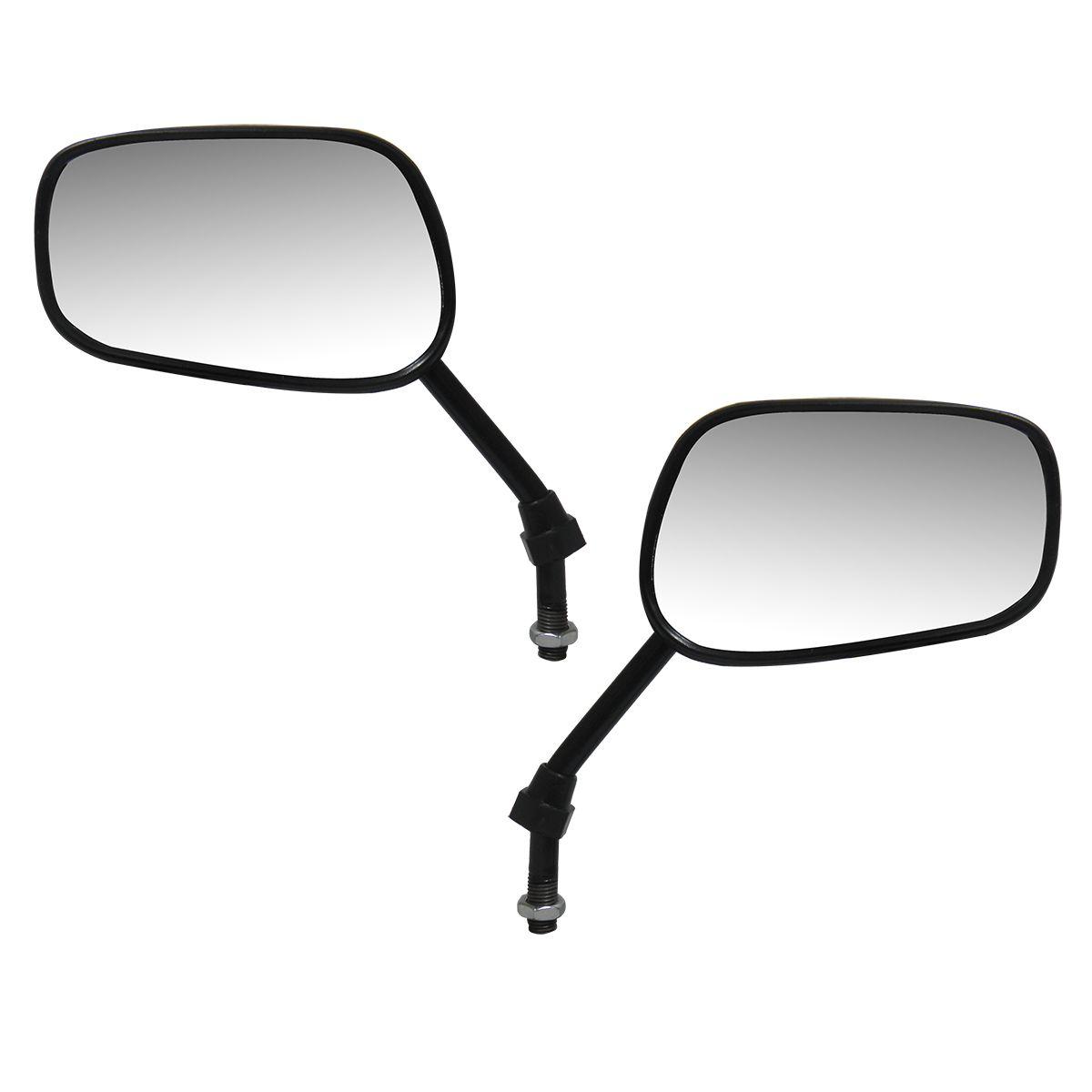 Espelho Par Retrovisor Moto Titan Ks Es Mini Serve em Todas Hondas