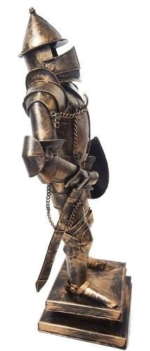 Estatua De Ferro Fundido Guerreiro Medieval Samurai com Espada Miniatura Japao Vintage Retro (cj-022)