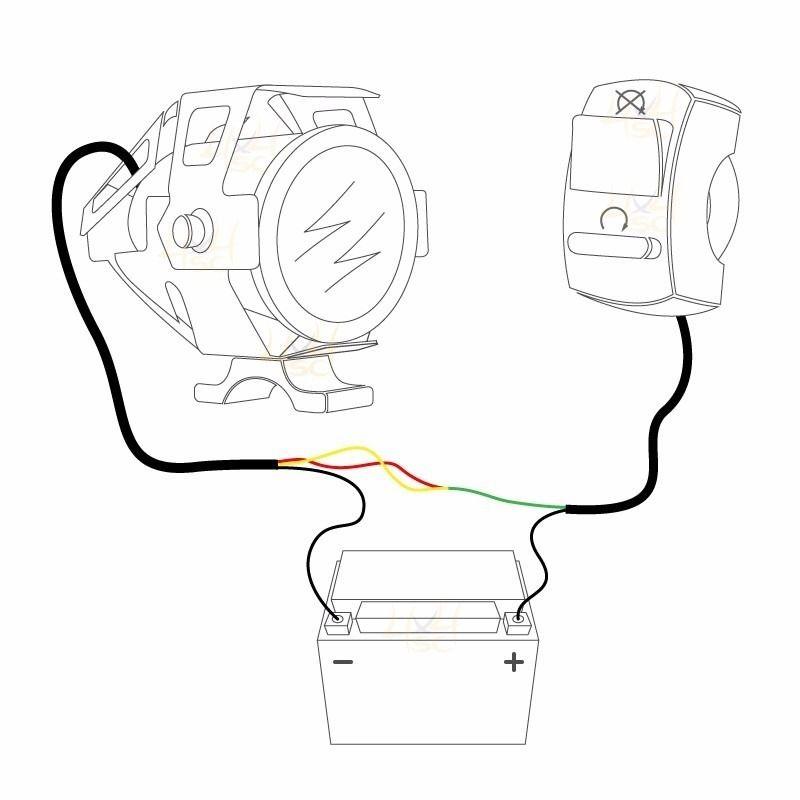 Farol de Milha Moto O Par Universal Com Interruptor Led Angel Eyes Neblina Automotivo (BSL-U7)