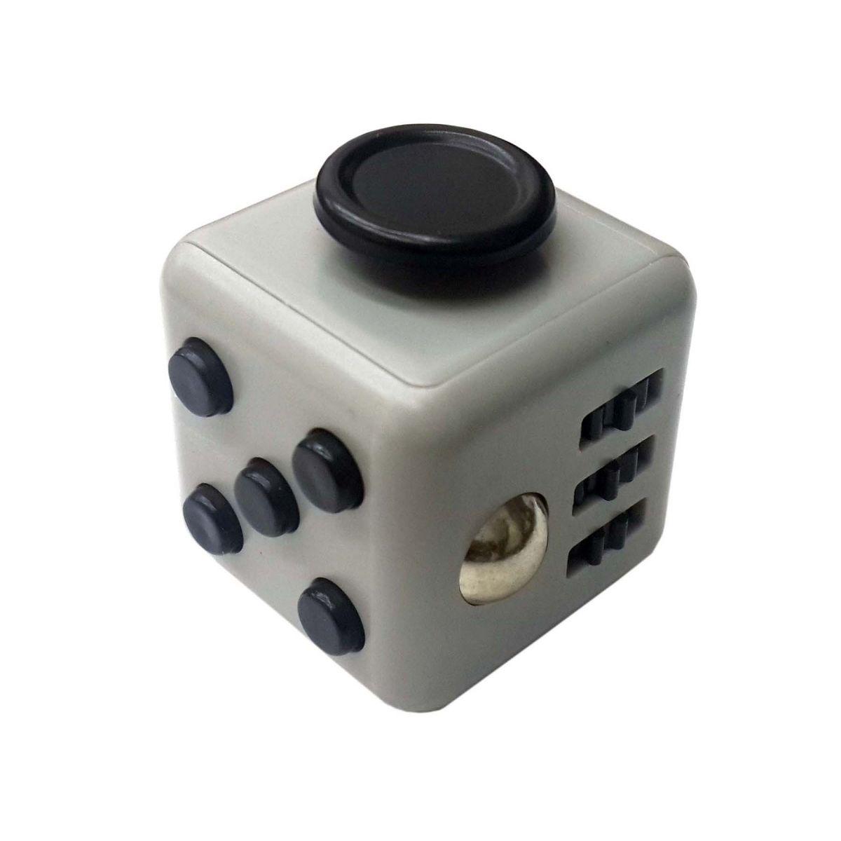 Fidget Cubo Para Ansiedade Cube Anti Estresse Dedo Apertar Para Toc Cinza (BSL-GIRA-3)