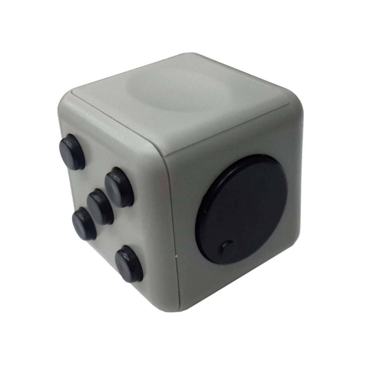 2Fidget Cubo Para Ansiedade Cube Spinner Anti Estresse Dedo Apertar Para Toc Cinza (BSL-GIRA-3)