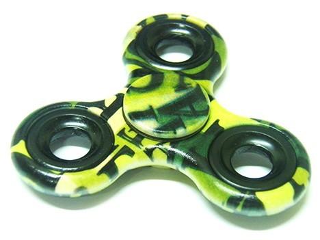 Fidget Hand Spinner Camuflado Anti Estresse Ansiedade Giro Verde