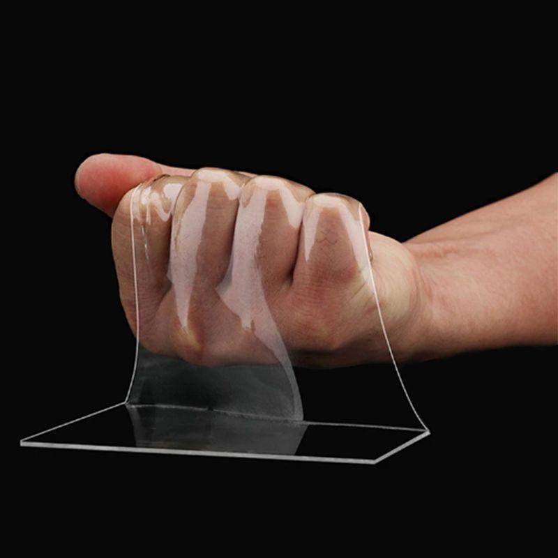Fita Adesiva Dupla Face Transparente Nano PU Gel 1 metro Casa