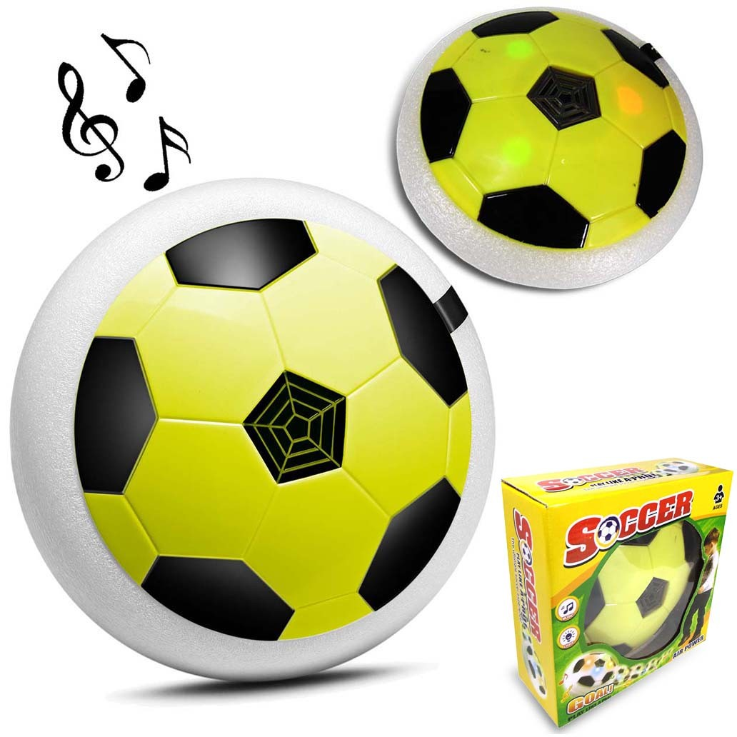 22fb7798d Flat Ball Bola Disco Flutuante Led Futebol Dentro de Casa Musica Amarela  (26618   518z) - Ideal Importados