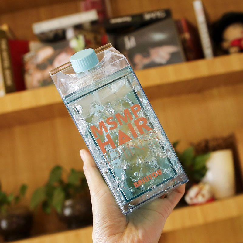 Squeeze Garrafa copo Gel congelante canudo bico Verde 400ml