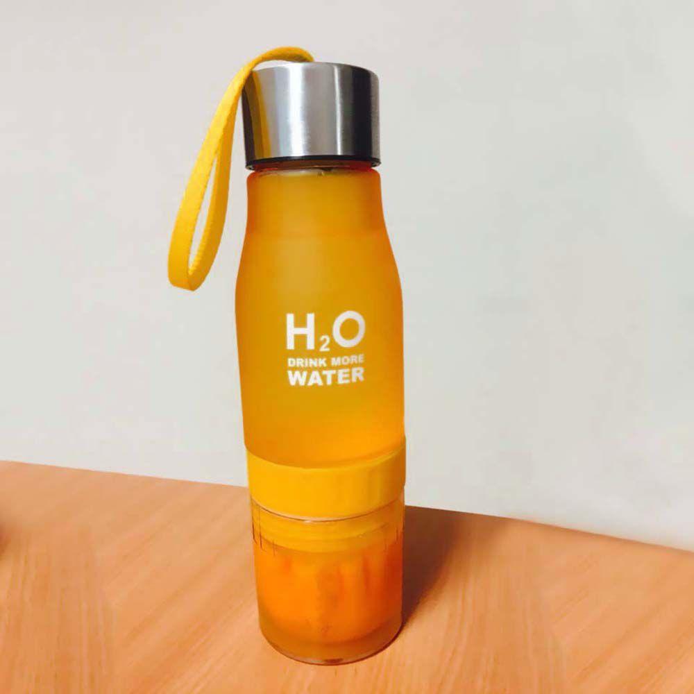 Garrafa Infusora Detox H2O Drink More Water suco Chás espremedor 650 ml