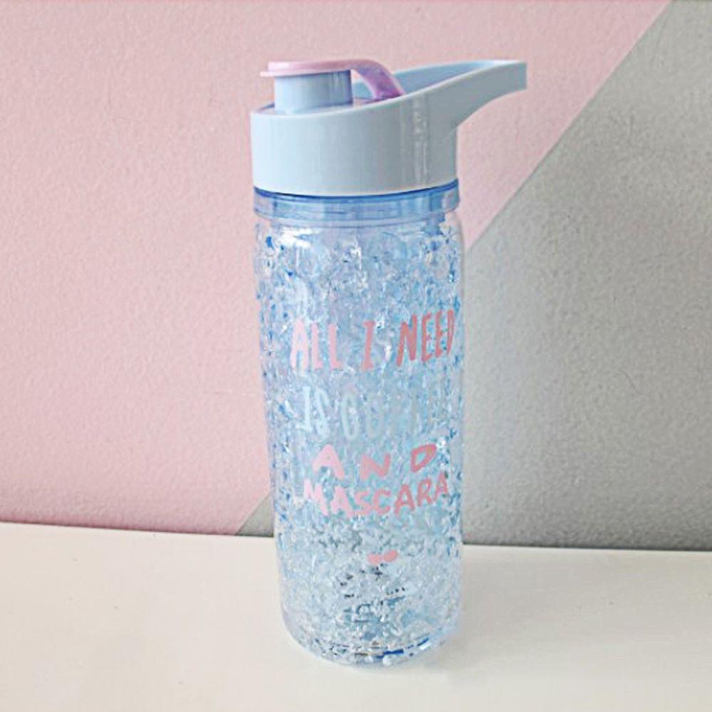 Garrafa Squeeze Gel Azul Agua Gelada Resfriamento Bebida