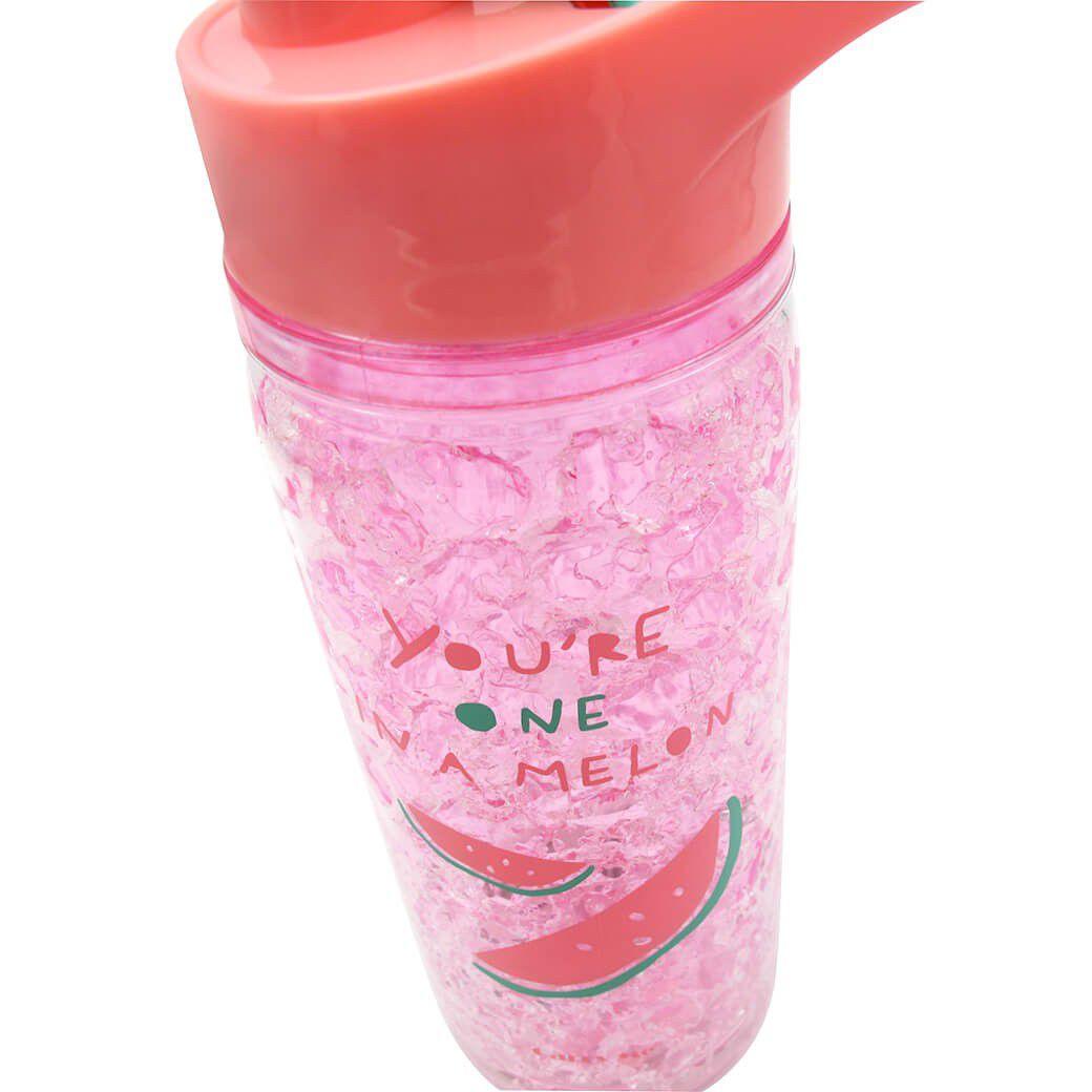 Garrafa Squezze Gel Congelante Bebida Agua Mais Tempo Gelada Rosa