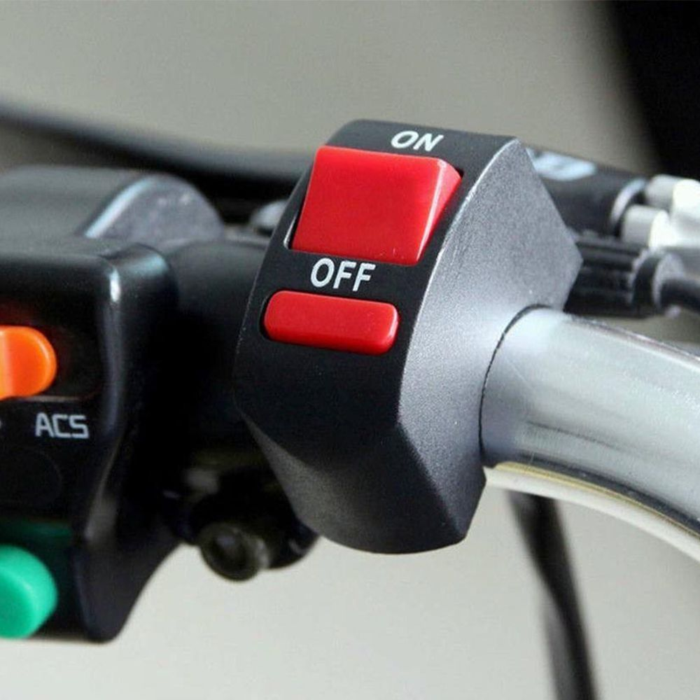 Kit 10 Botoes Interruptor Farol De Milha Moto Liga Desliga