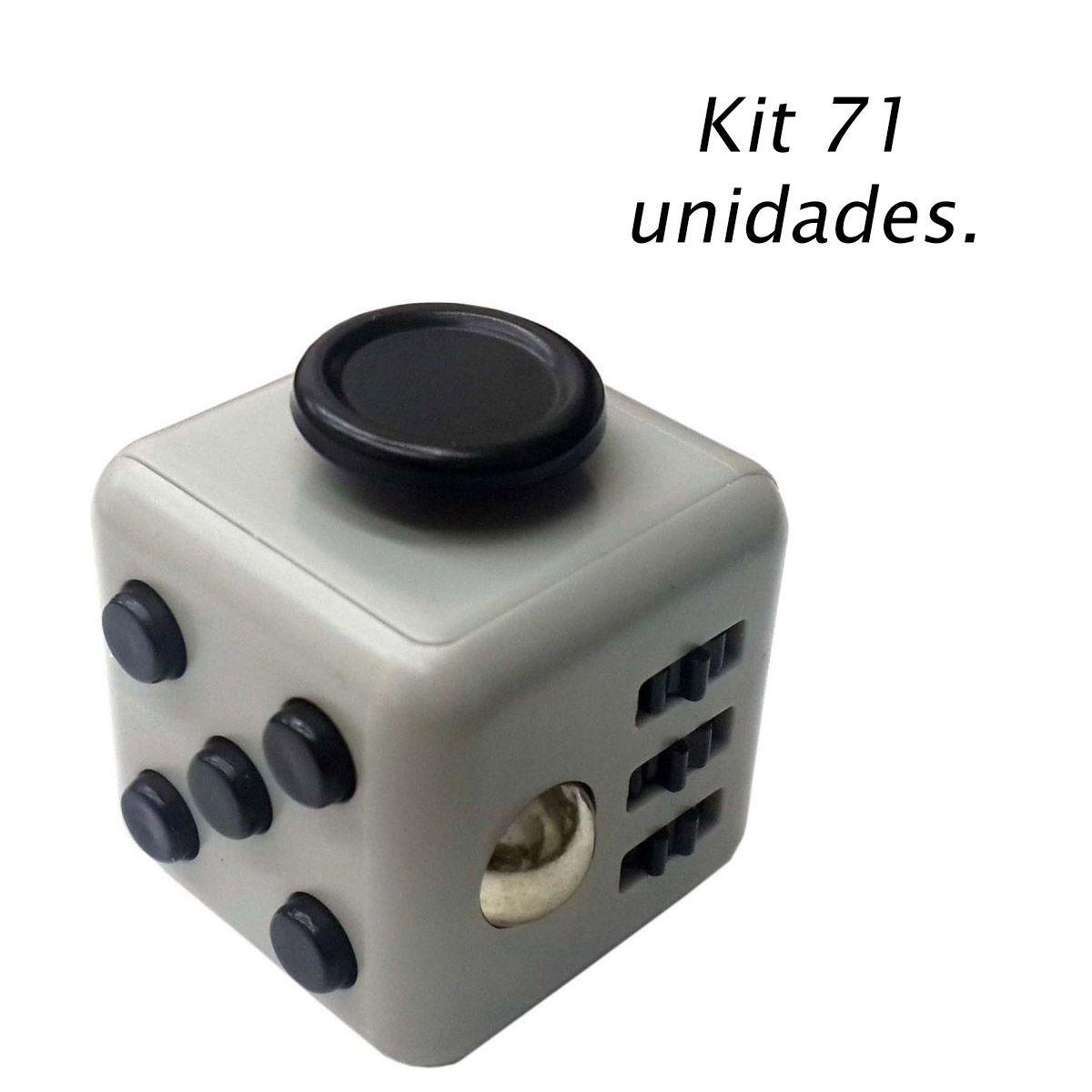 Kit 71 Fidget Cubo Para Ansiedade Cube Anti Estresse Dedo Apertar Cinza (BSL-GIRA-3)