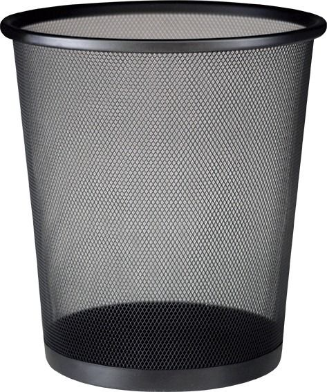 Kit Lixeira de Aço Telada Redonda 10 Unidades Sala Escritorio Preta (bsl-34008-1)
