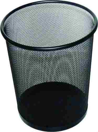Lixeira Telada Redonda de Aço para Escritorio Cesto de Lixo Preta Kit Com 10 Unid (bsl-34008-1)