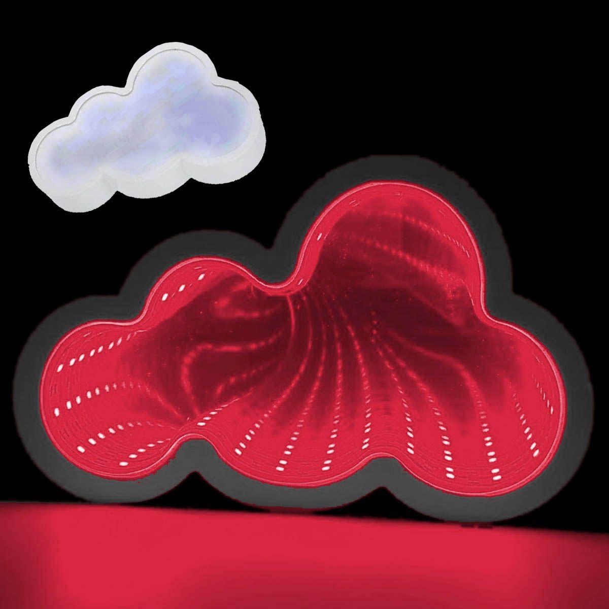Luminaria Espelho 3D Infinito Led Nuvem Profundidade Luz Quarto (QZ3801)