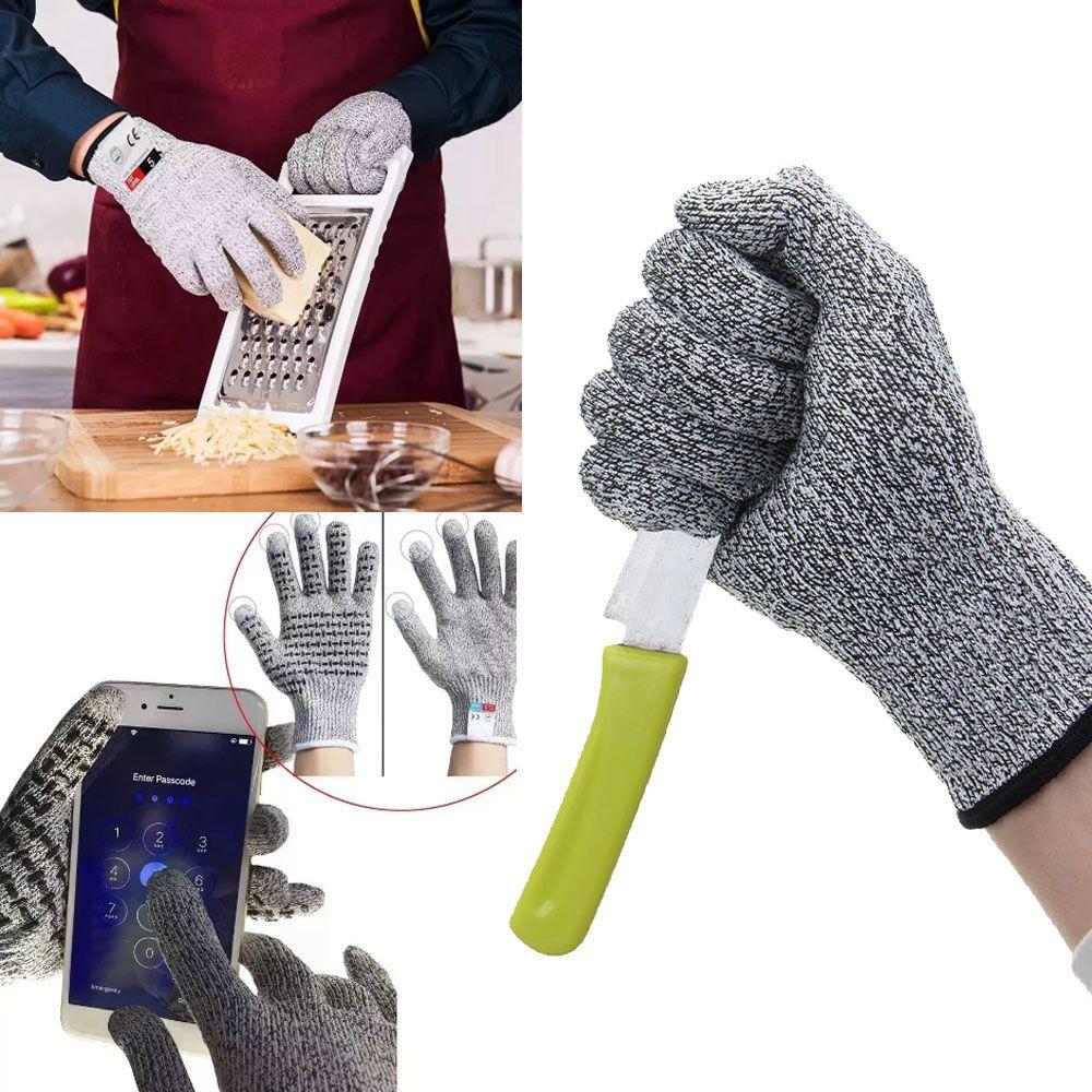 Luvas Anti Corte Profissional Medio Nivel 5 Alta Segurança Cozinha Faca Açougue