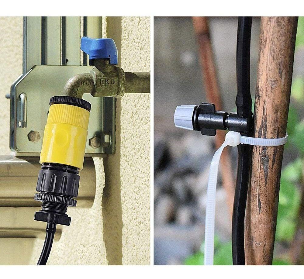 Mangueira Climatizadora casa jardim Sistema Irrigacao Nevoa 10 M Kit 2