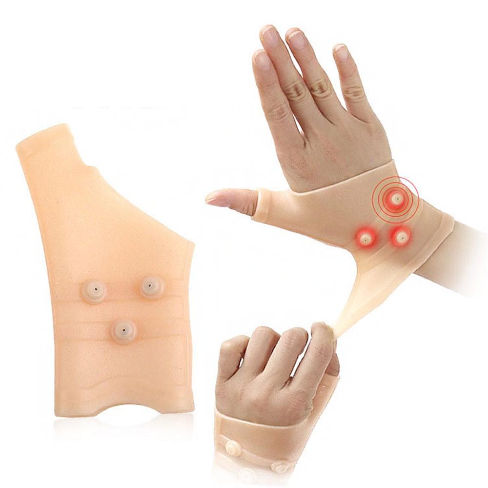 Munhequeira Magnetica Tala Elastica Luva Ajustavel Pulso Maos Articulaçao Saude Ortopedica Terapia Alivia Dores