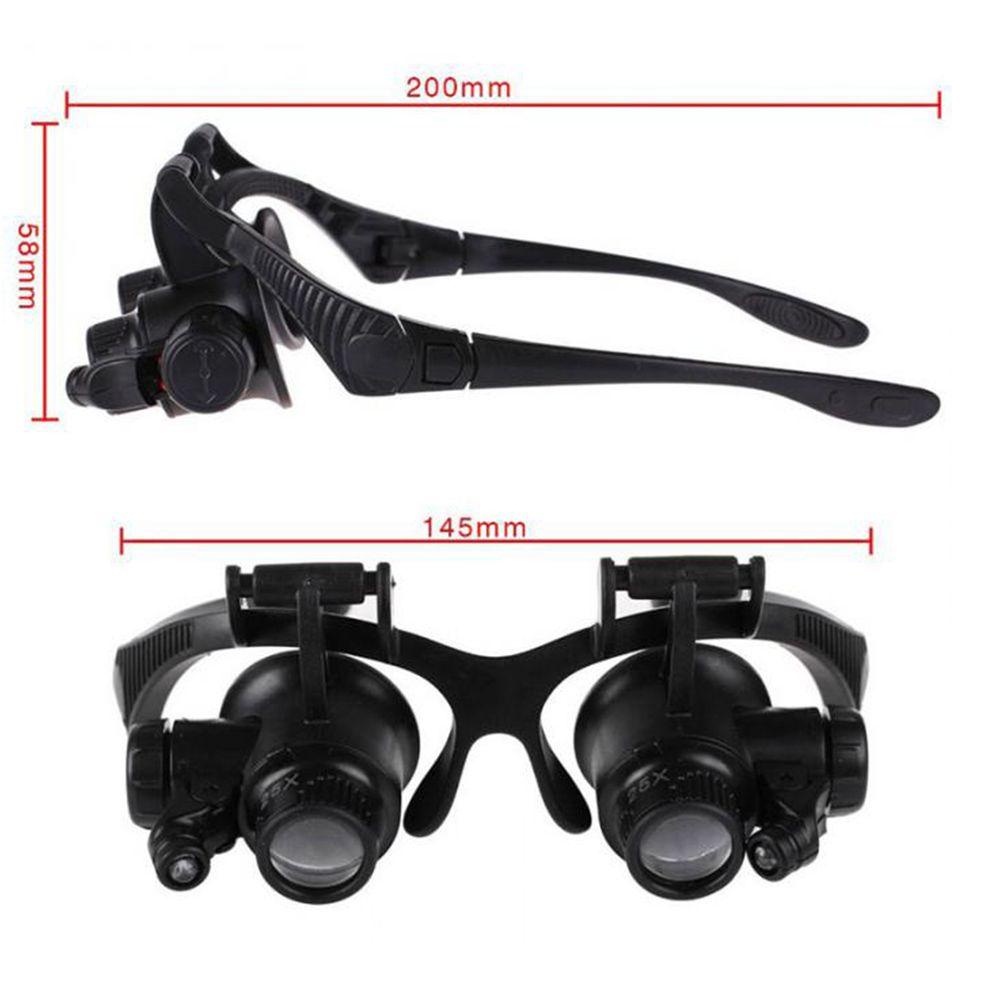 Oculos Lupa 4 Lentes Aumento Consertos Reparos Relogio Joias Celular