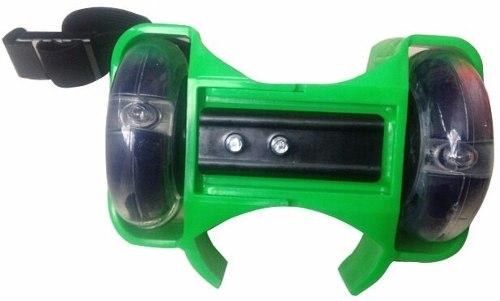 Patins Adaptado Para Tenis Esporte Com Rodas De Led Verde (SKT-11)