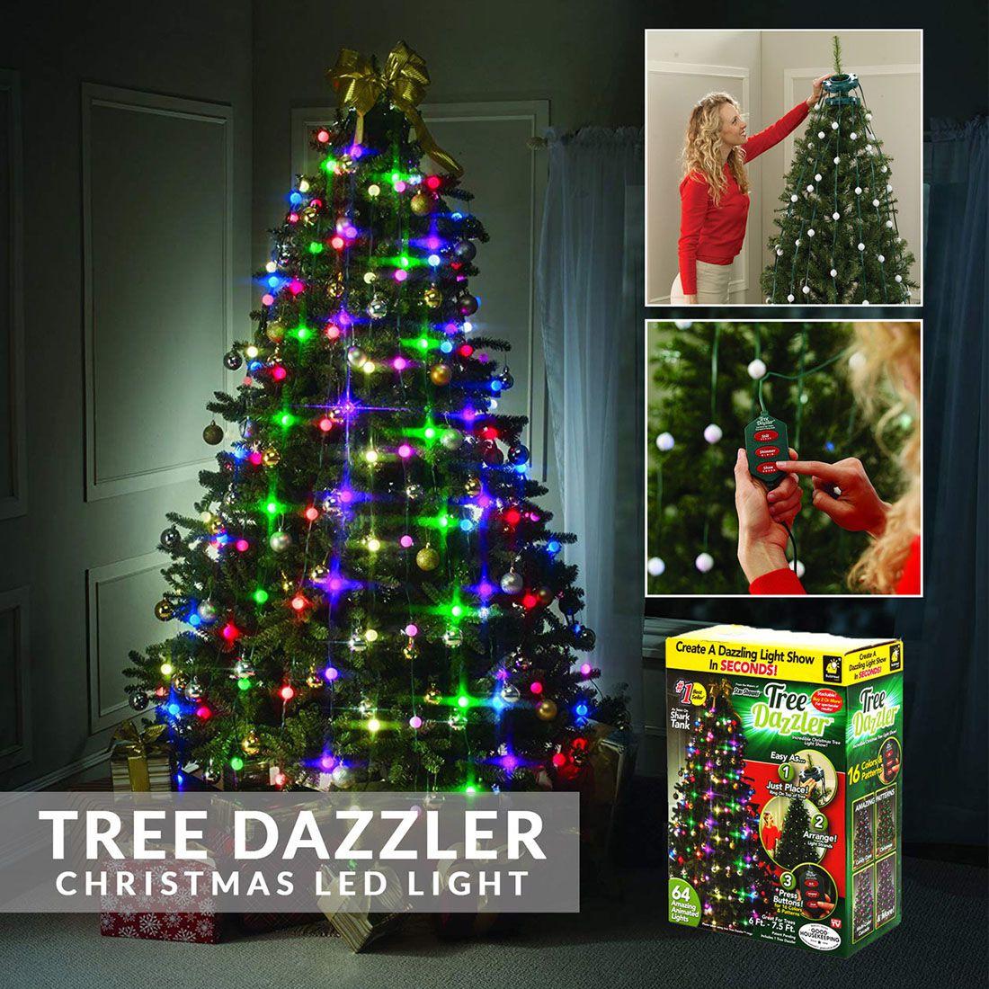 Pisca Pisca RGB Bola 16 Funcoes 48 Leds Natalino Arvore de Natal Tree Dazzler