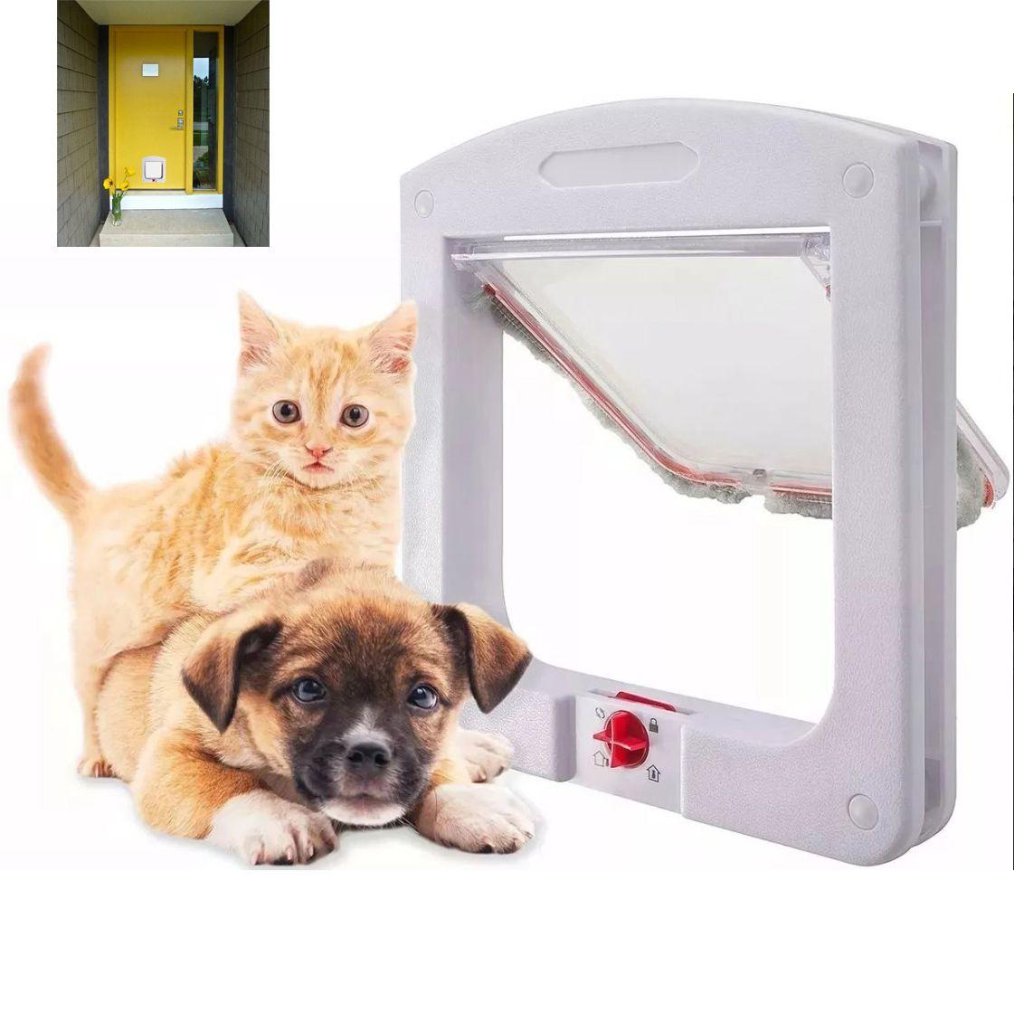 Porta Portinha De Passagem P/ Gato Pet Cachorro 4 Em 1