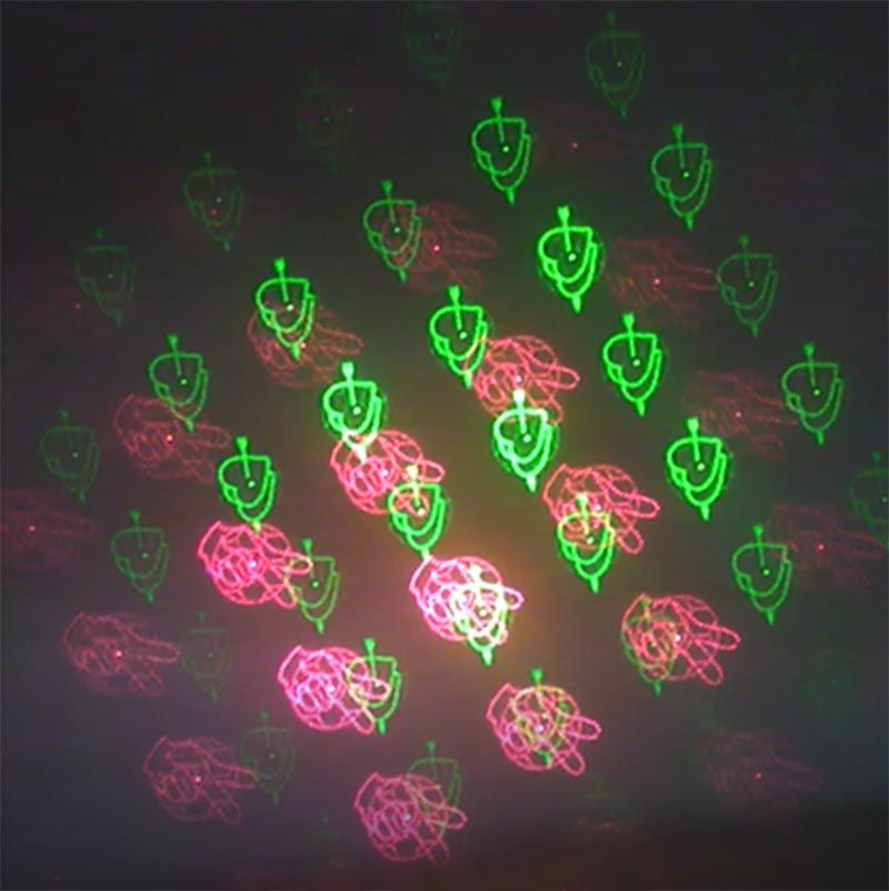 Projetor Laser Holografico Efeitos Luzes Festas Natal Strobo Canhao (888645)