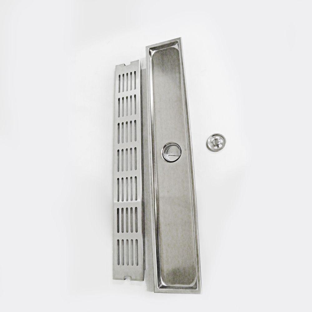 Ralo Linear Anti Insetos e Odor Grelha Metal Casa
