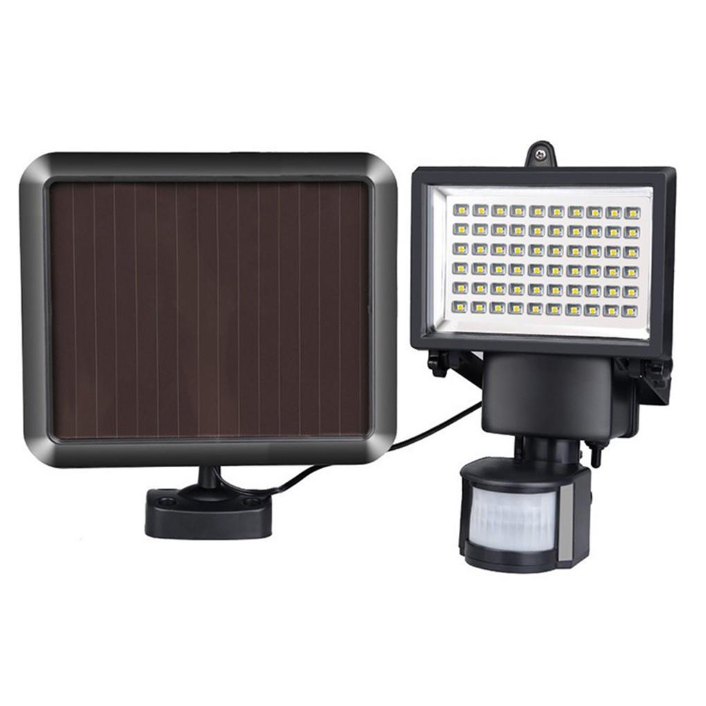 Refletor Solar De 60 Leds Com Sensor Movimento Holofote Iluminacao Segura Economica Com Painel Solar (BSL-HEL-6)