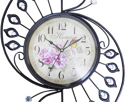 8cc4fb143b6 Relogio De Parede Grande Retro Vintage Para Decoracao Flor - Ideal  Importados
