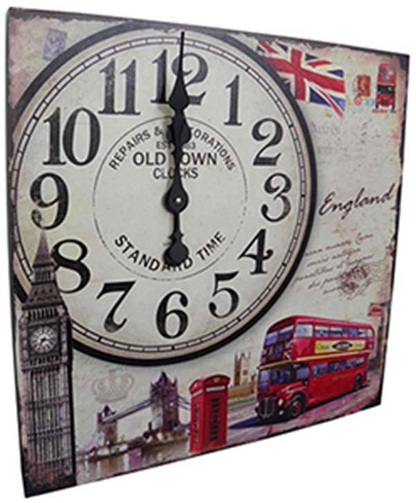 Relogio De Parede Grande Vintage Retro Decoracao Londres (XIN-05)