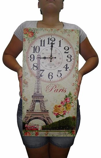 Relogio De Parede Para Decoracao Retro Paris Vintage