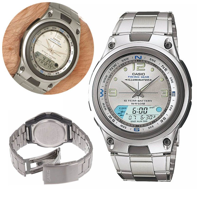 7ba55c908c8 Relogio Digital Masculino Analogico Prova Dagua Casio Alarme Pesca  Calendario Cronometro Lunar (aw-82d ...