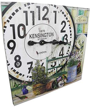 Relogio Parede Grande Vintage Retro Deco Vasos de Plantas Kensington (XIN-05)