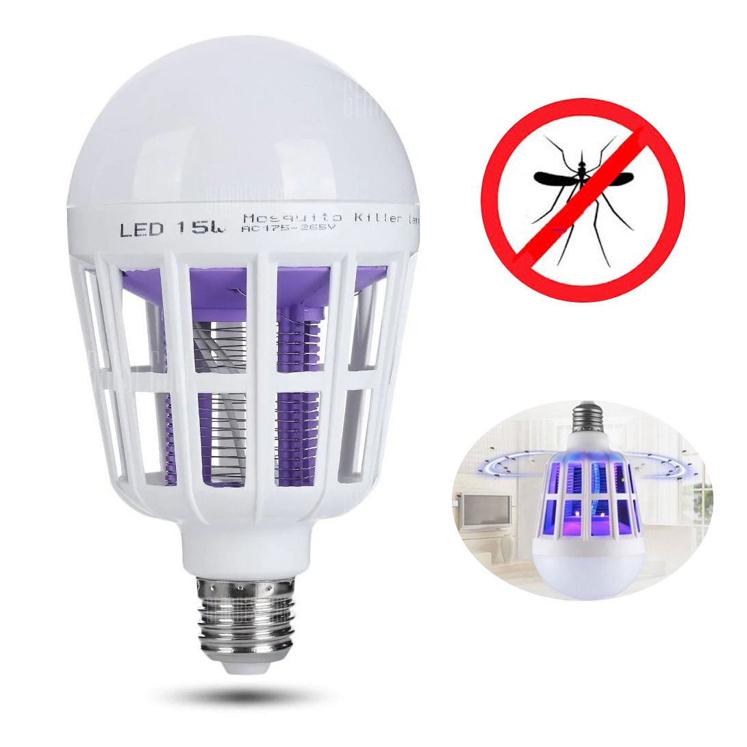 Repelente Lampada Led UV Mosquito Mosquiteiro Armadilha Dengue Zika