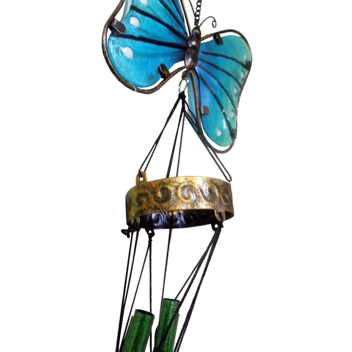 Sino Ventos Tradicional Borboleta Colorida Azul