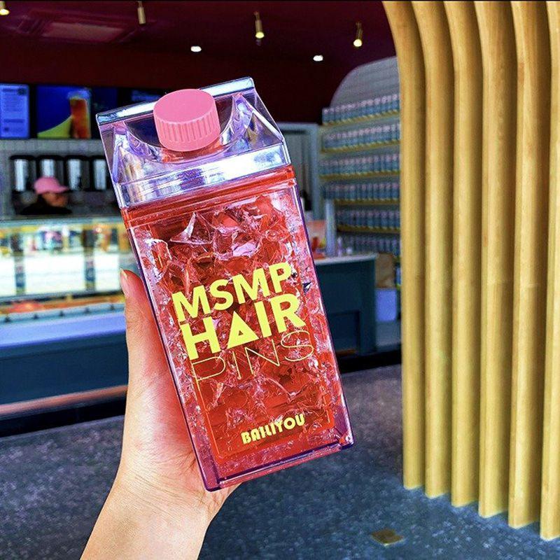 Squeeze Garrafa Gel congelante copo anudo bico Vermelho 400ml