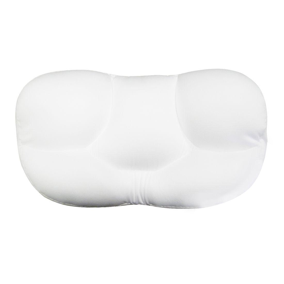Travesseiro Almofada Ovo Dormir Dor nas Costas Alinha Coluna Viagem Isopor Micropérola