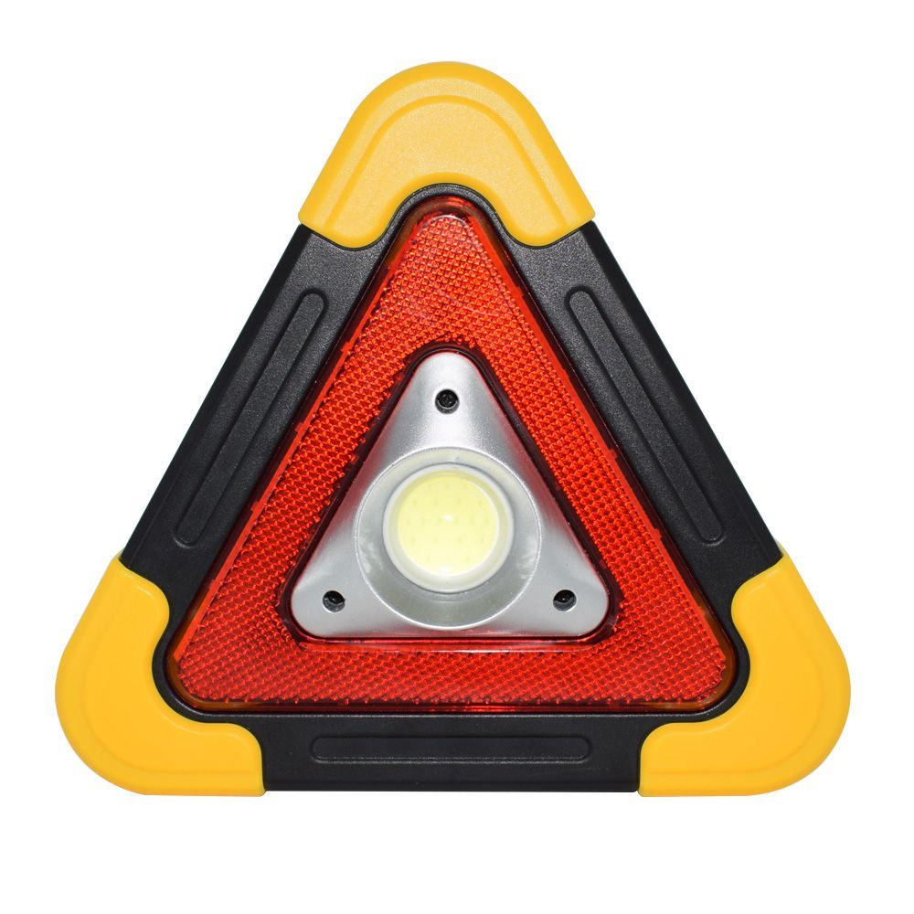 Triangulo Sinalizador Veicular Alerta Solar Emergencia LED Recarregavel Acampamento