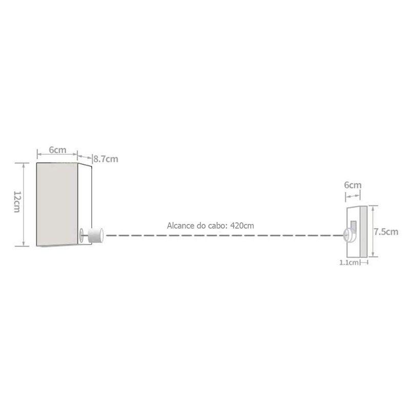 Varal de Roupa Retrátil 4 metros 20cm Seca Roupa até 20kg Recolhível