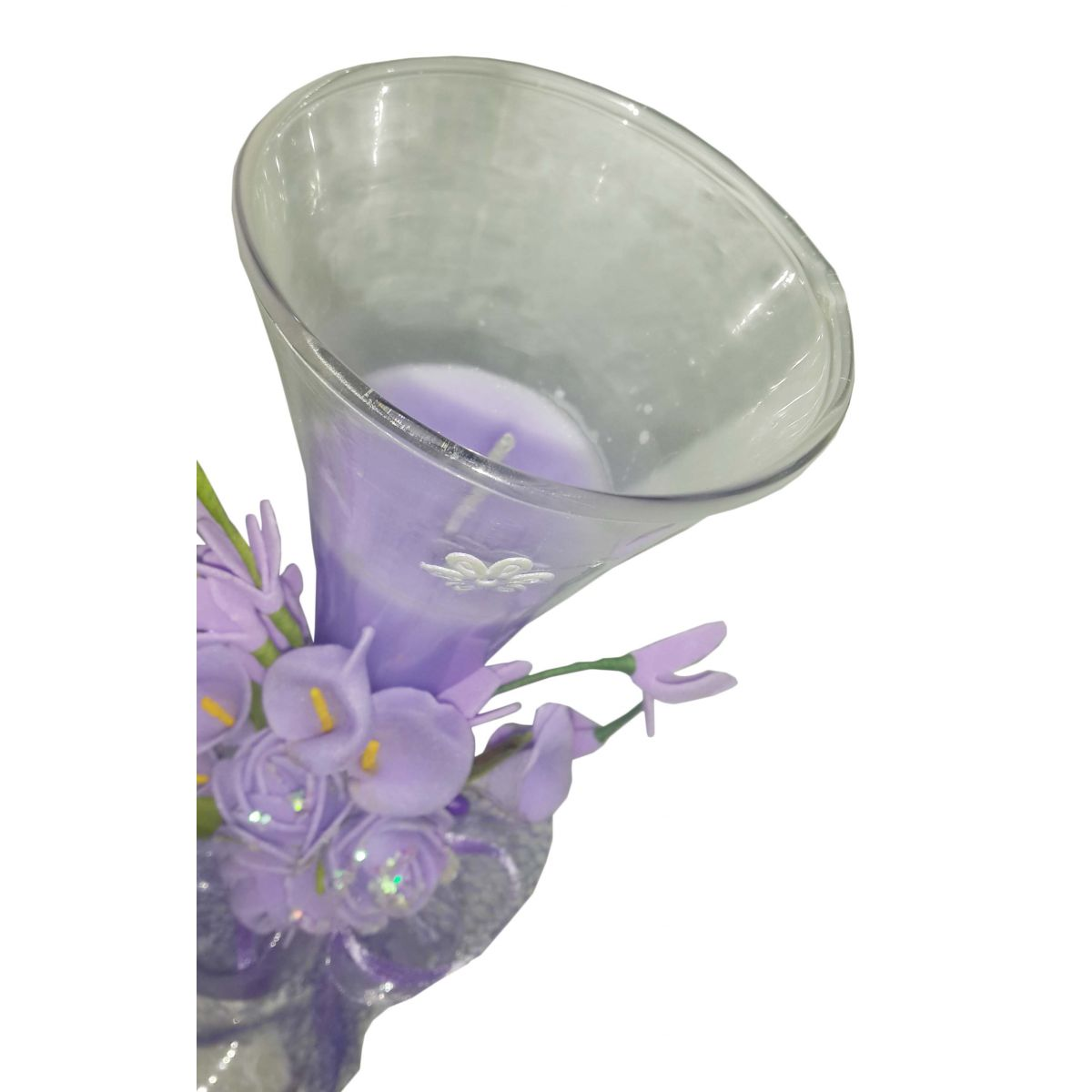 Vela Parafina Perfumada Decorativa Grande Fragrancia Flores Lilas (WL-A)