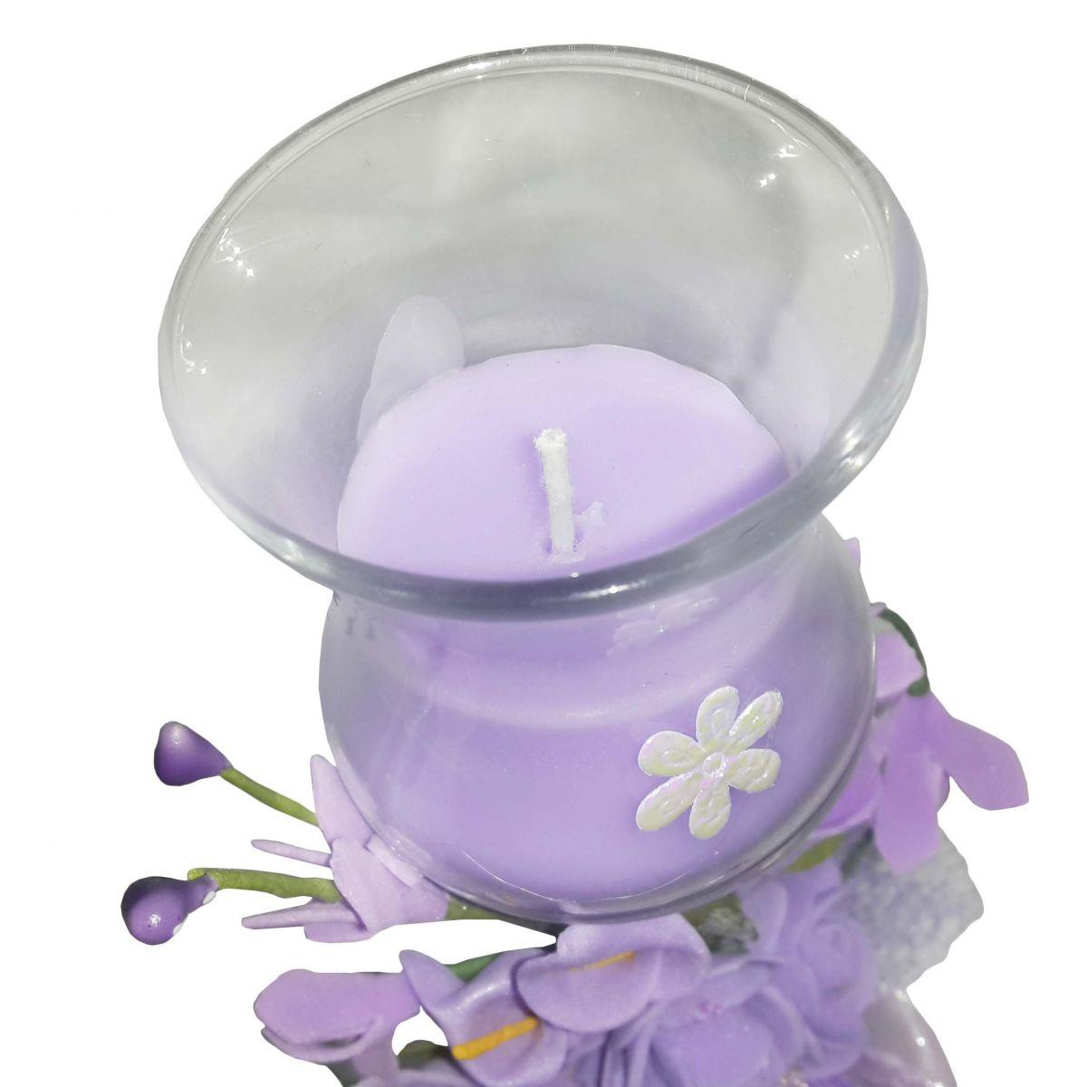 Vela Parafina Perfumada Decorativa Media Fragrancia Flores Lilas (WL-B)