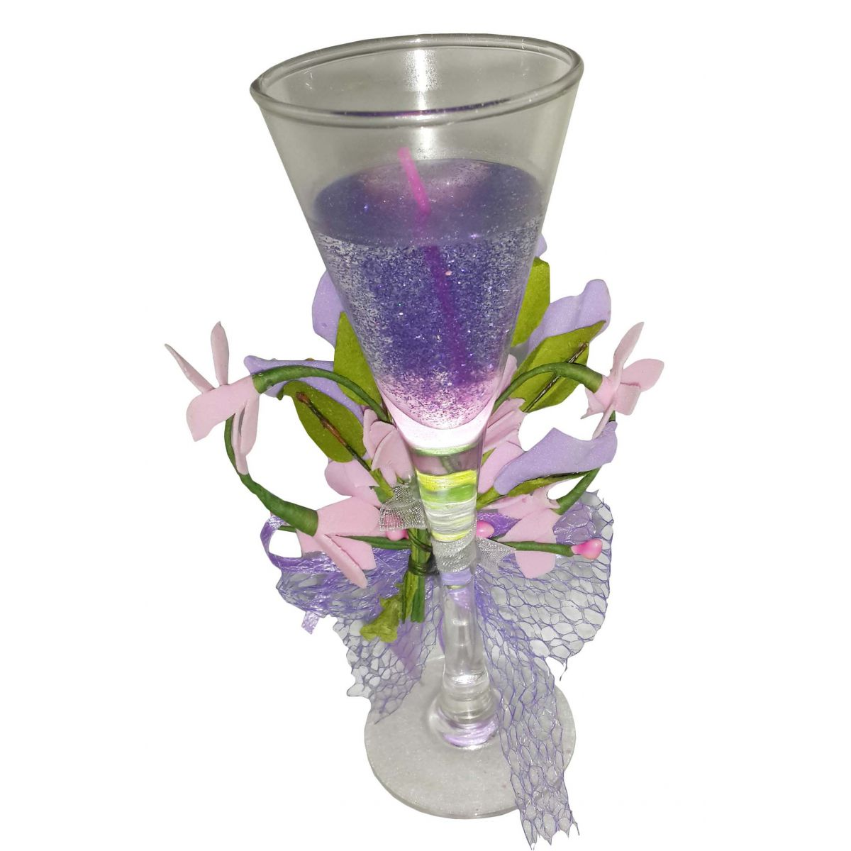 Vela Perfumada Decorativa Mini Fragrancia Flores Lilas (WL-C)