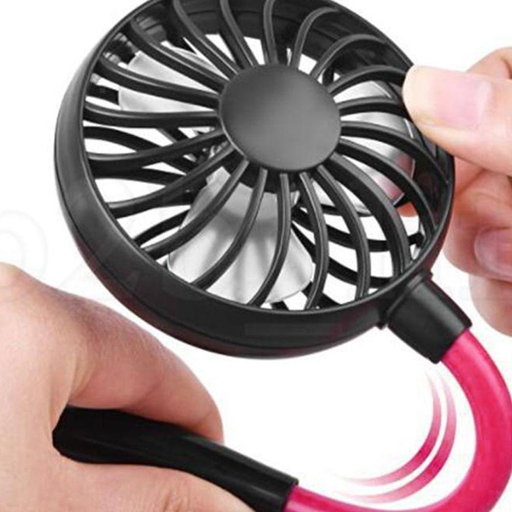 Ventilador Mini Portatil Pendurar Pescoço USB Bateria Lazer Esportes